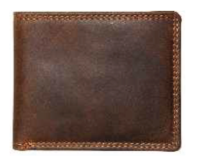 Rugged Earth Leather Wallet, Style 990010