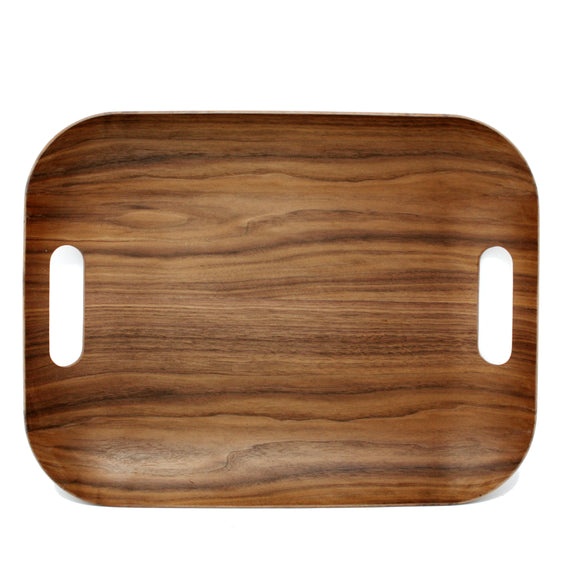 Wood Finish Serving Tray, 40x31cm