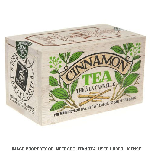 Wood Box, Cinnamon Black Tea, 25 Teabags