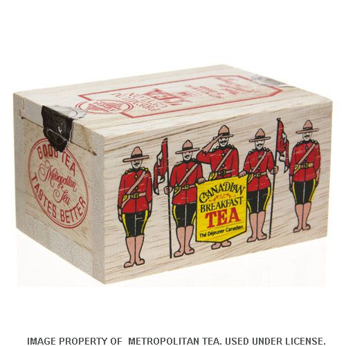 Wood Box, RCMP Canadian Breakfast Tea, 25 Teabags