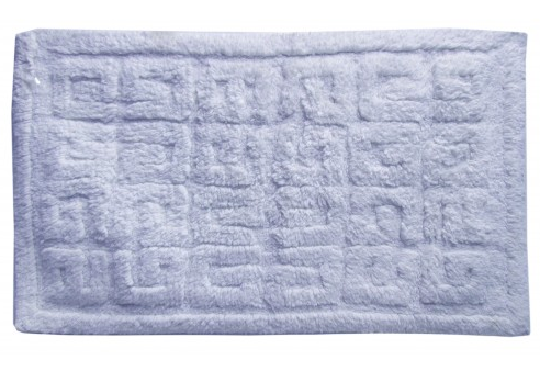 Tufted Cotton Bath Mat, White 20x30