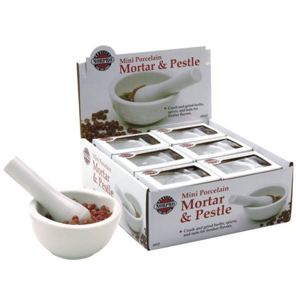 NorPro Mini White Ceramic Mortar & Pestle, 1/4 Cup