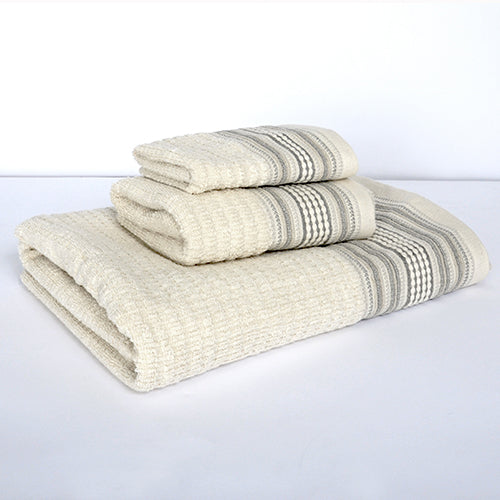 Amadora Bath Towel, Grey/Natural 28x52