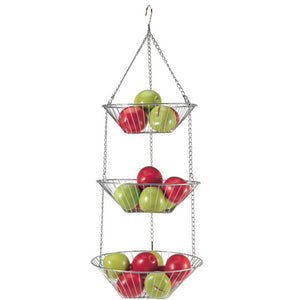 Three-Tier Hanging Basket, Chrome