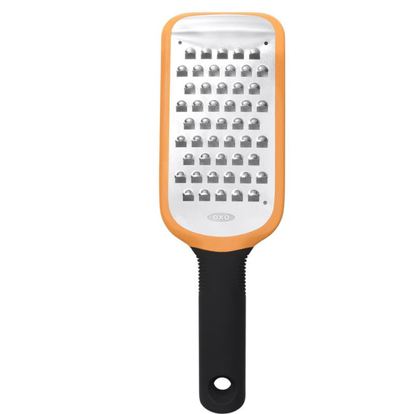 OXO Etched Medium Coarse Grater, Orange 14.5