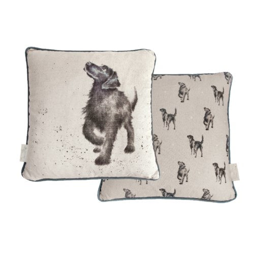 Wrendale Cushion, Walkies, Dog 16x16