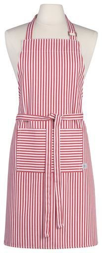 Chef Apron, Narrow Stripe, Red