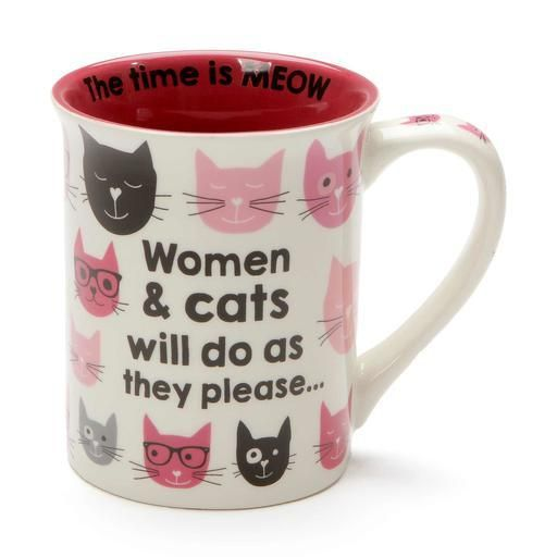 ONIM Mug - Pink Kitties (Women & Cats) 16oz