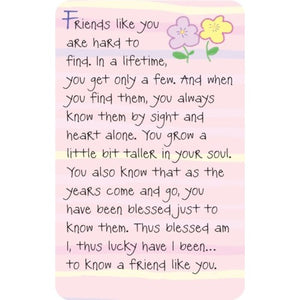 """Friends Like You Are Hard To Find"" Wallet Card"