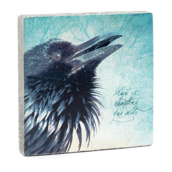 Magic Raven Art Block, 4x4x1.25