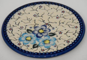 Trivet, 15.5cm, Blue Flowers & Vines