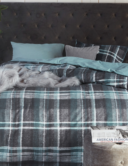 Jo+Me Tartanweed Plaid Duvet Cover Set, King 104x90