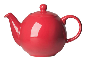 2 Cup Globe Teapot, Red
