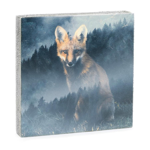 Forest Fox Art Block, 4x4x1.25