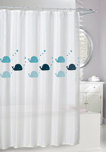 Whales 'Eco' Shower Curtain, 70x72""
