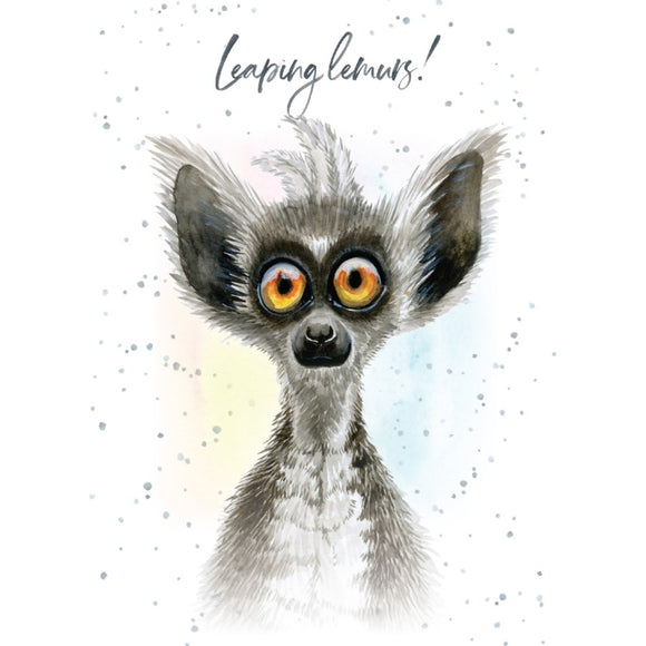 BD / Leaping Lemurs Birthday Card