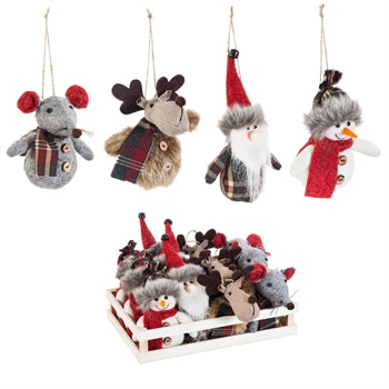 Winter Friends Plush Ornament, 4 Designs