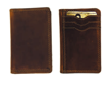 Rugged Earth Leather Credit Card Wallet, Style 990019