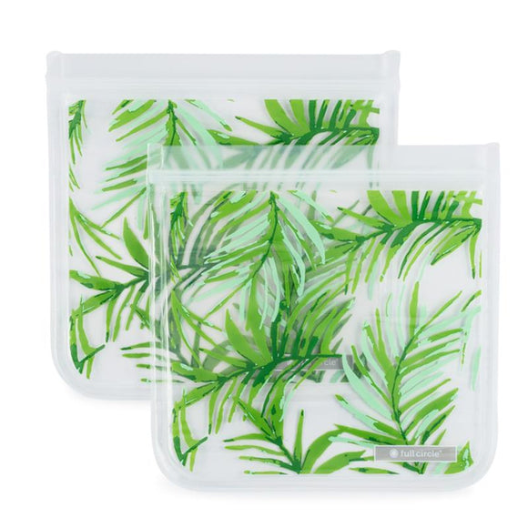 ZipTuck Re-Usable Sandwich Bags, Set of 2 - Palm Leaves