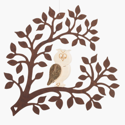 Window Decoration: Owl On The Branch 17cm