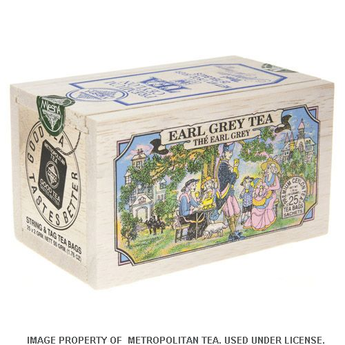 Wood Box, Earl Grey, 25 Teabags