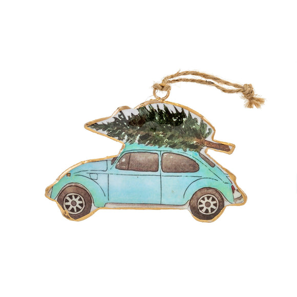 Tree-Topped Punch Buggy Ornament