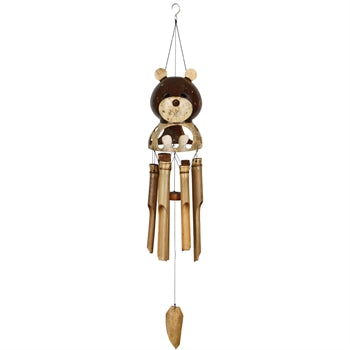 Woodstock Teddy Bear Bamboo Chime
