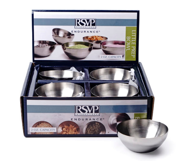 RSVP Little Prep Bowl, 2 oz Stainless Steel