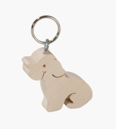 Maple Key Ring, Dog 5cm