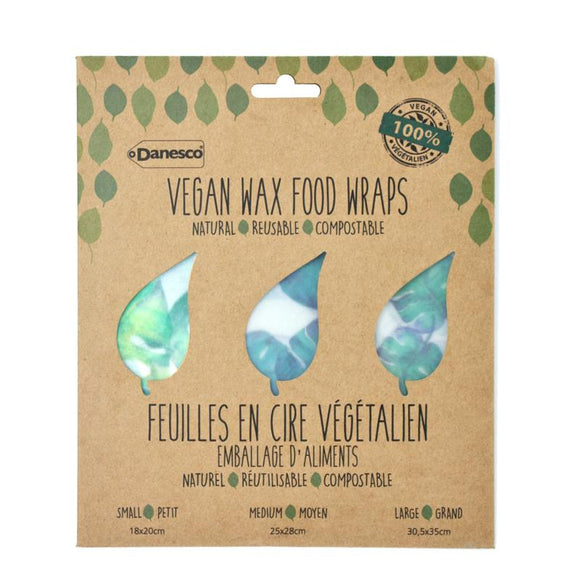 Vegan Wax Food Wraps, Set of 3 - Banana Leaves