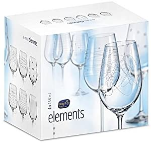 Elements Wine Glass, 6 Asst'd