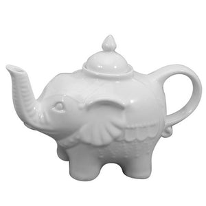 Elephant Teapot, White 28oz
