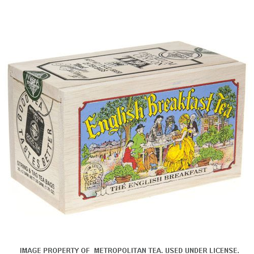 Wood Box, English Breakfast, 25 Teabags