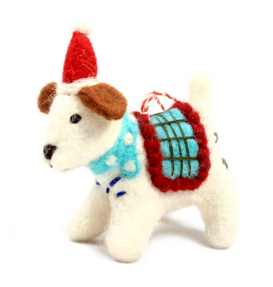 Winter Dog Felt Ornament
