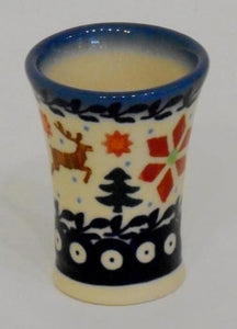 Shot Glass, Flare, Holly & Reindeer