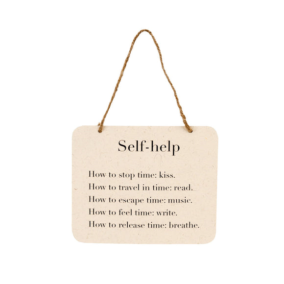 Paper Wall Sign, Self Help 7x5.5
