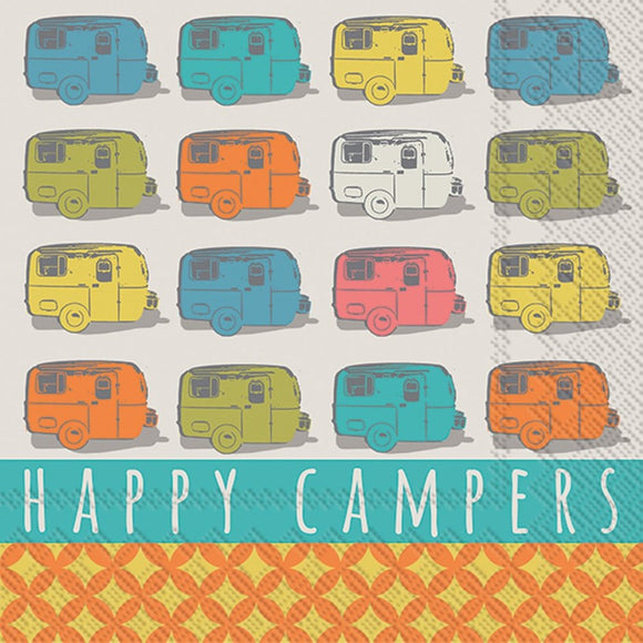 Cocktail Napkin - Happy Campers