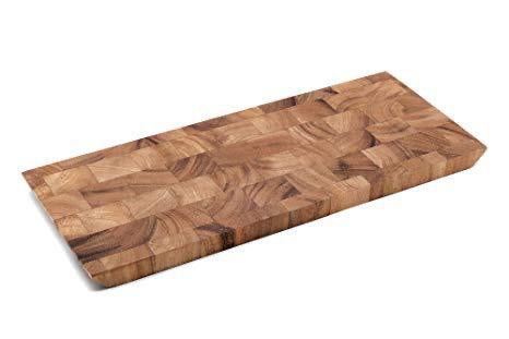 Bowery End Grain Cheese & Charcuterie Board (Reversible) Acacia Wood 15x6.25x0.75