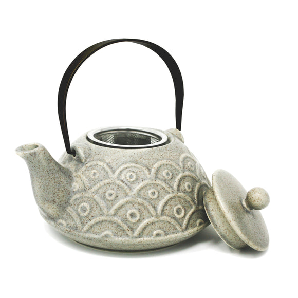 ZEN Infusing Teapot, Grey w/Black Handle 700ml