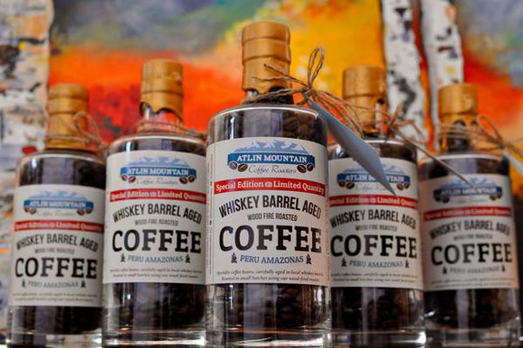 Whiskey Barrel Aged Organic Coffee Beans