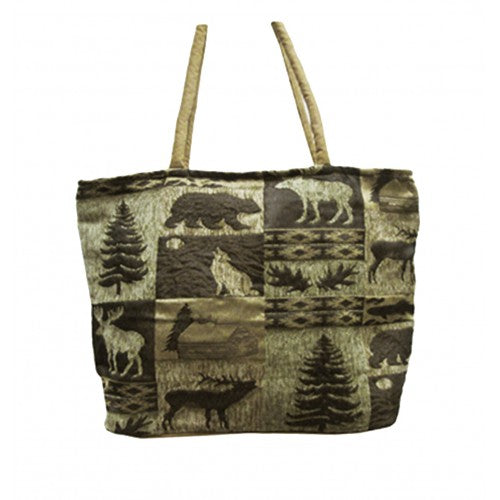 Shopping Bag, Canadian North Print 13x19