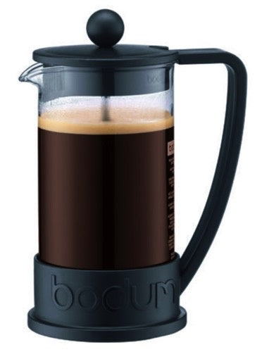 Brazil French Press coffee maker, 3 cup, 0.35 l, 12 oz Black