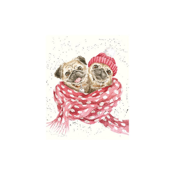 Wrendale Christmas Mini-Card, Snug As A Pug