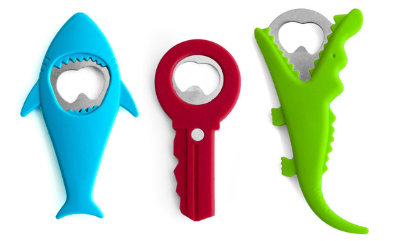 Fun Shaped Bottle Openers (Shark/Key/Gator)