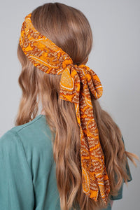 Floral Print Twisted Headband