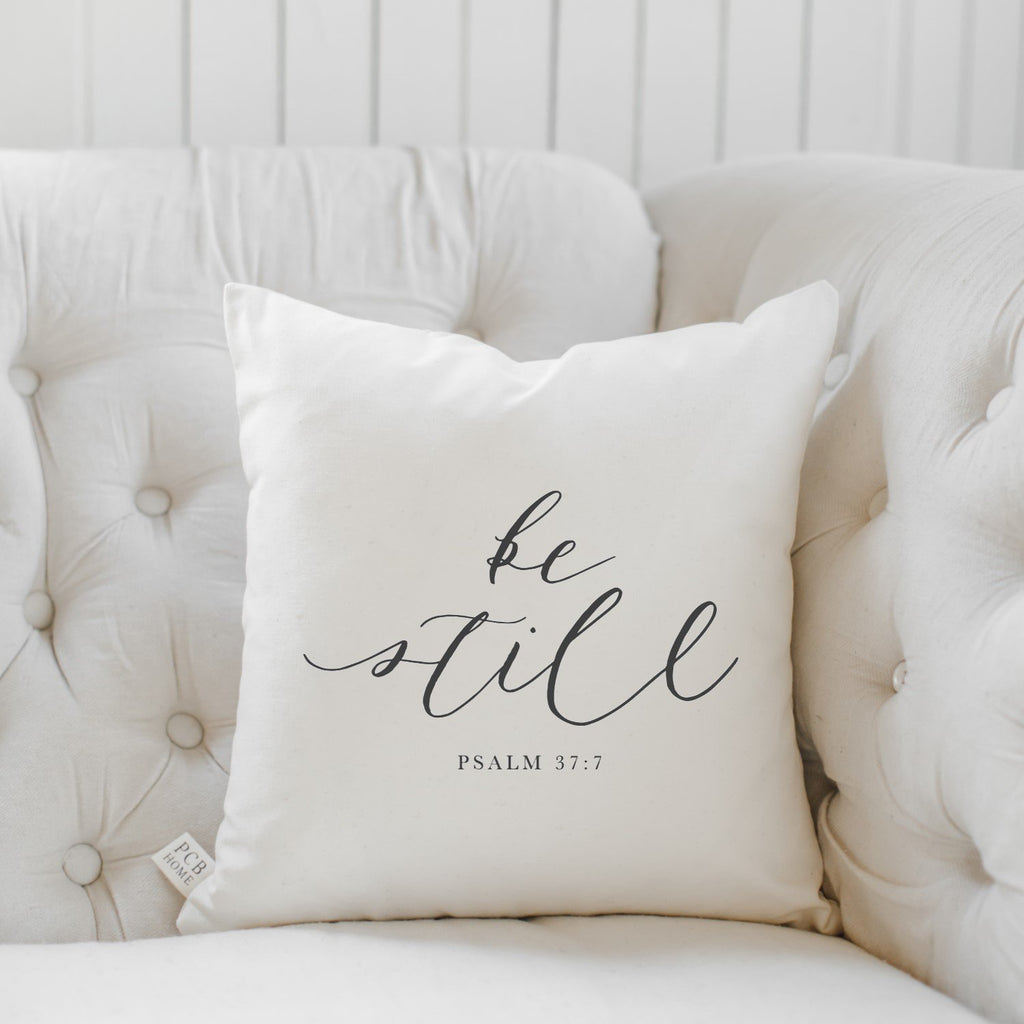 Be Still Verse Pillow
