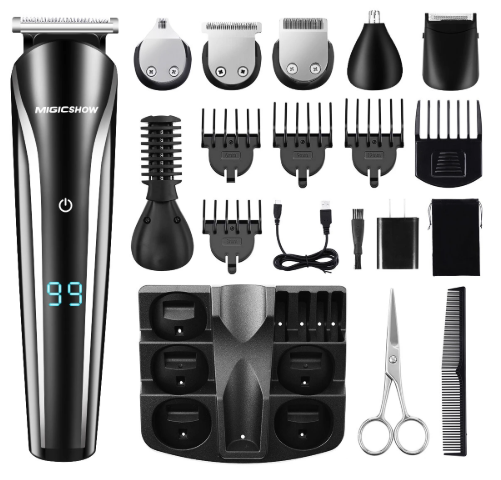 TLPro Electric Shaver for Men- Hair, Beard, Nose Trimmer - 11 in 1 Kit for High Quality Cut