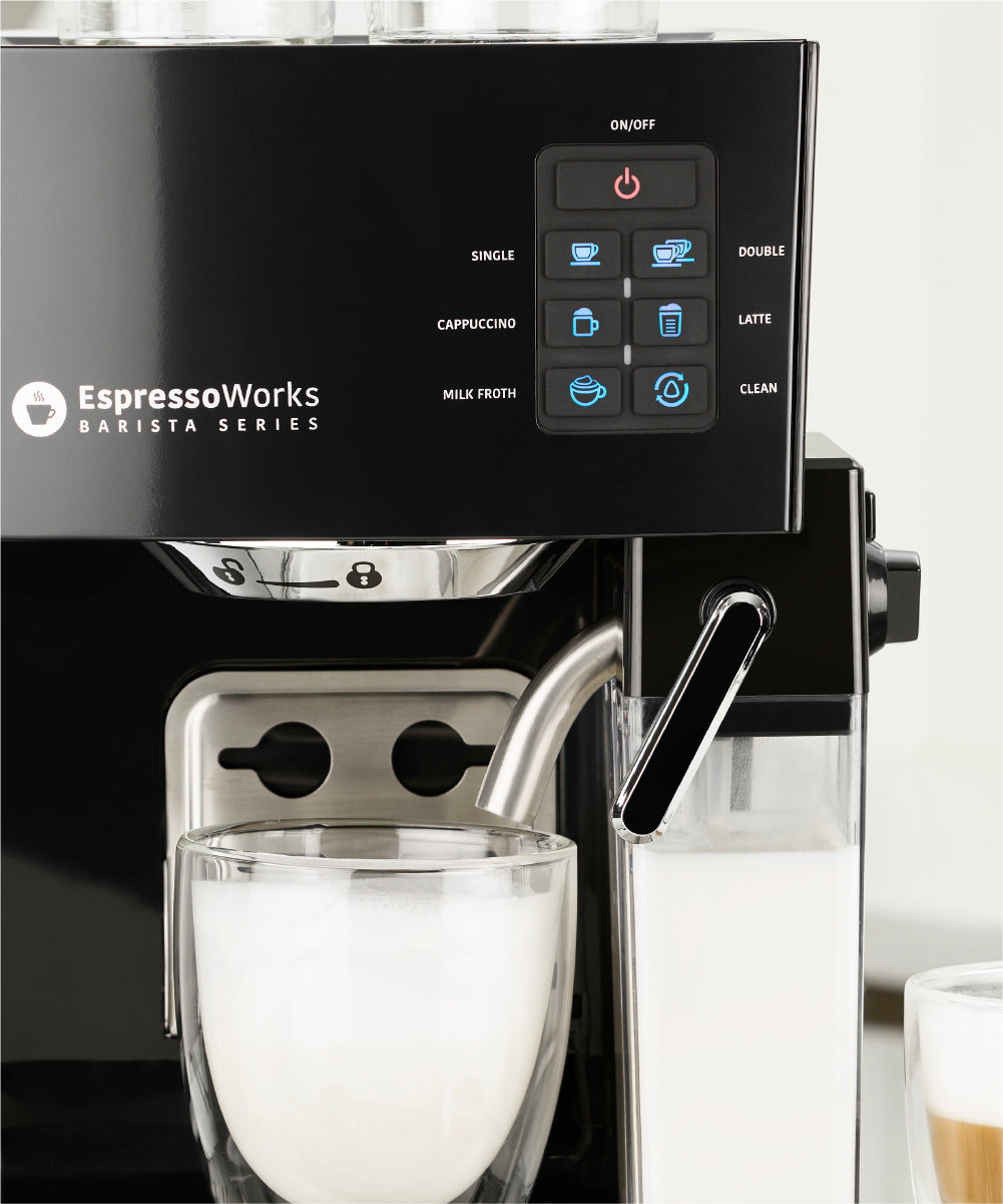 One-Touch Panel on the EspressoWorks 19-bar Espresso & Cappuccino Maker