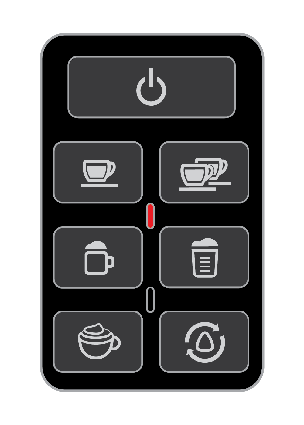 A solid Red Indicator Light means the machine is plugged into a socket of incorrect voltage - EspressoWorks 19-bar Espresso Machine
