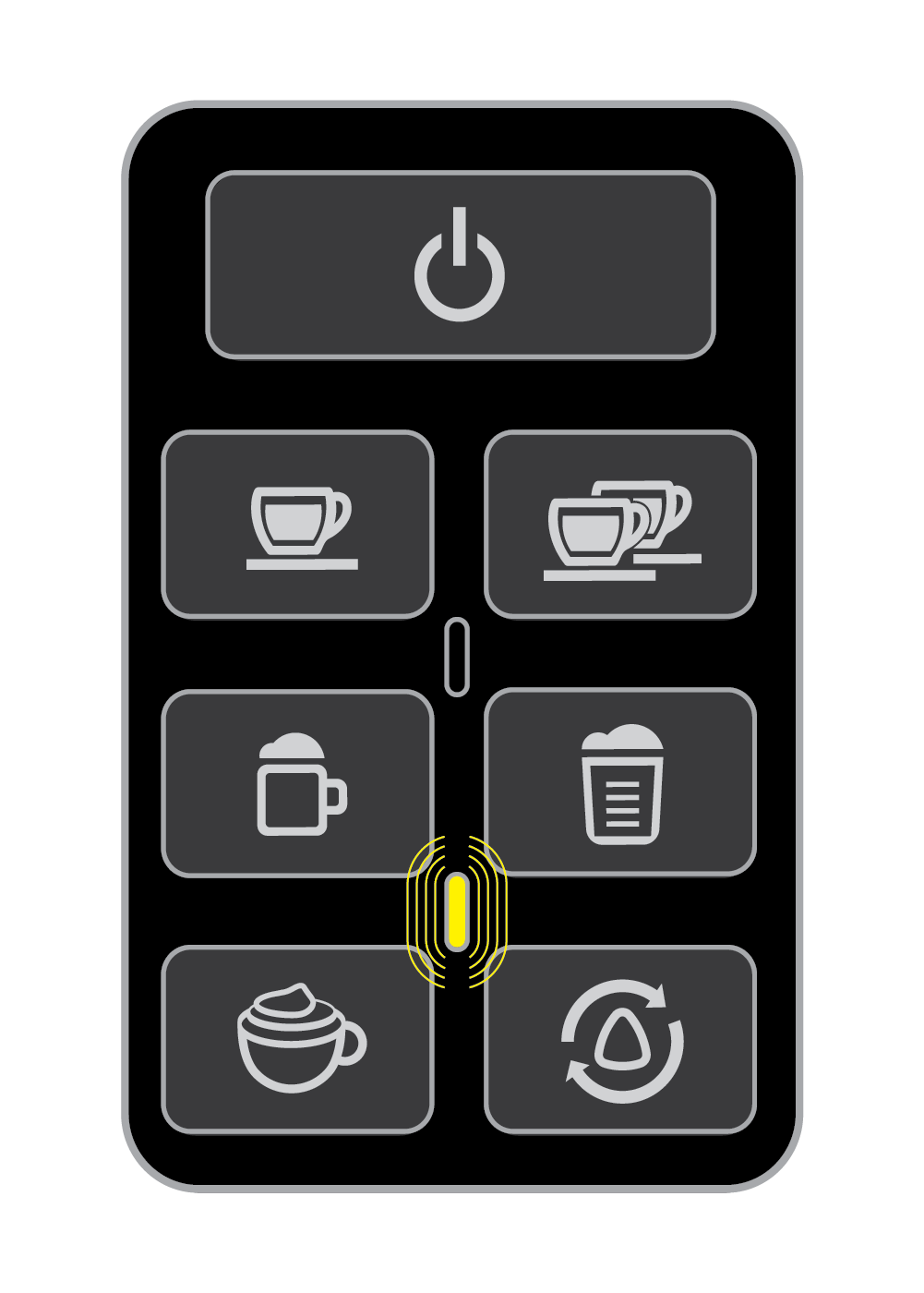 Yellow Indicator Light on the One-Touch Panel - EspressoWorks 19-bar Espresso & Cappuccino Maker